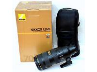 Nikon 70-200mm vr2 + Warranty - BRAND NEW CONDITION