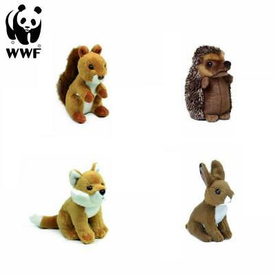 WWF Plüschtier Waldtiere (10cm) Fuchs Hase Eichhörnchen Igel Kuscheltier NEU