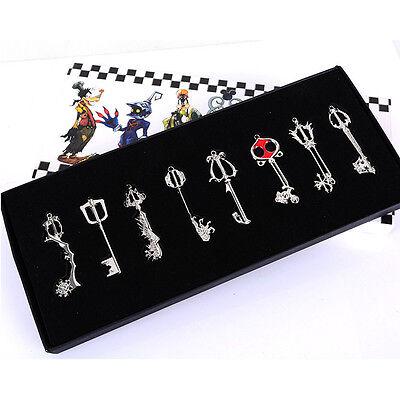 Kingdom Hearts Set of 8 Metal Keys Blade Keyblades Sword Weapon Pendants Gift](Kingdom Hearts Keyblades)