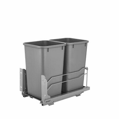 Rev A Shelf 50 Quart Pull Out Sliding Double Waste Trash Container Bin (Used)