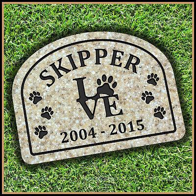 "Pet Memorial Grave Marker 9"" x 12"" Personalized Cat Dog Headstone Gravestone"