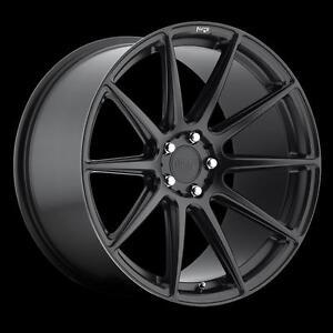 "18"" Wheel Audi TT A3 A4 A6 S4 S5 S6 Mercedes BMW Volkswagen Jetta Golf Roue Mag 5x112 Roues 5x120 Saint Black Wheels"