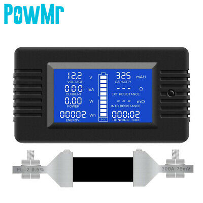 300a Lcd Display Dc Battery Monitor Meter 0-200v Voltmeter Ammeter Fit Cars Rv
