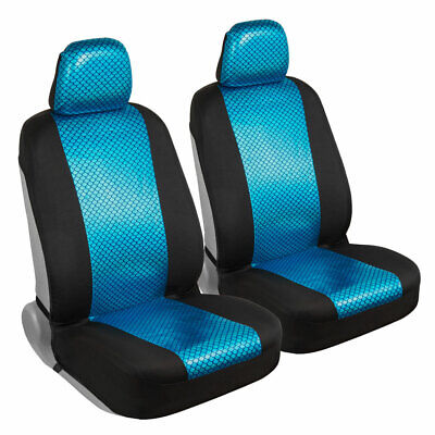 Car Seat Covers Mermaid Front Sideless Set with Headrest Covers Auto Truck SUV