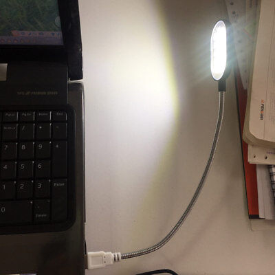 Flexible USB LED Light Reading Lamp for PC Computer Keyboard Laptop Notebook