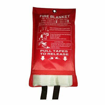 Fire Blanket Fiberglass Protective Blanket Retardant Emergency Survival Safety