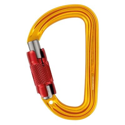 Petzl SM'D H-frame TWIST LOCKING Smallest Locking Carabiner With Tethering Hole