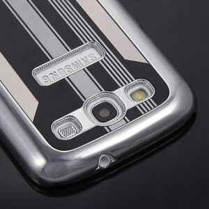 Deluxe Black Aluminum Chrome Hard Case Cover for Samsung Galaxy S3 III GT i9300