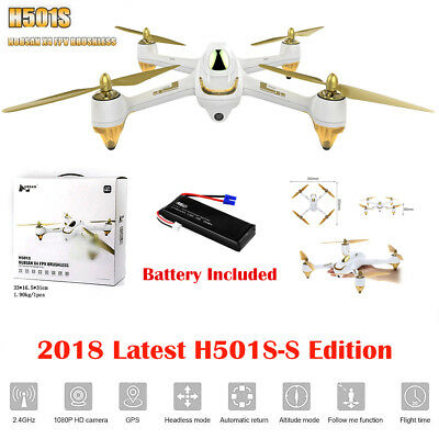 Hubsan H501S X4 5.8G FPV 1080P RC Quadcopter Drone GPS Follow Me Brushless BNF