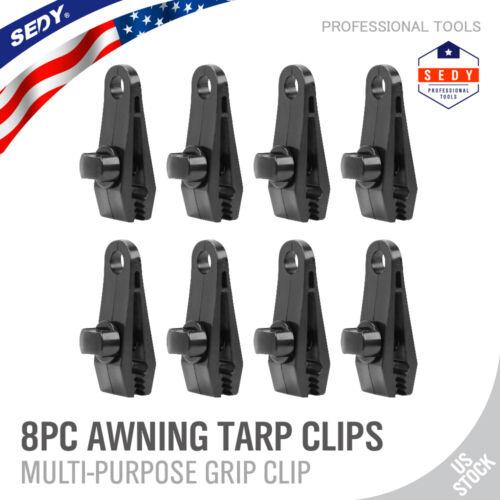 8pc heavy duty tarp clips clamps great