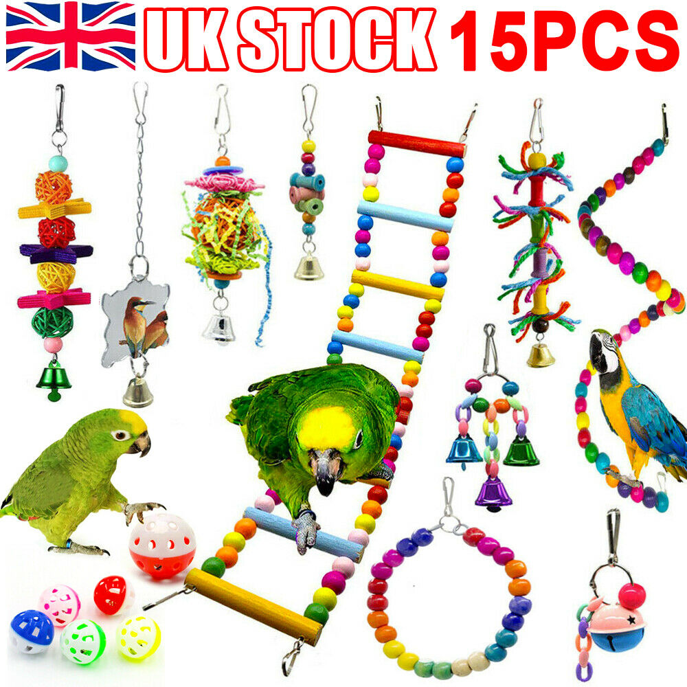 15x Parrot Toys Metal Rope Small Ladder Stand Budgie Cockatiel Cage Bird Toy Set 619470522808 Ebay