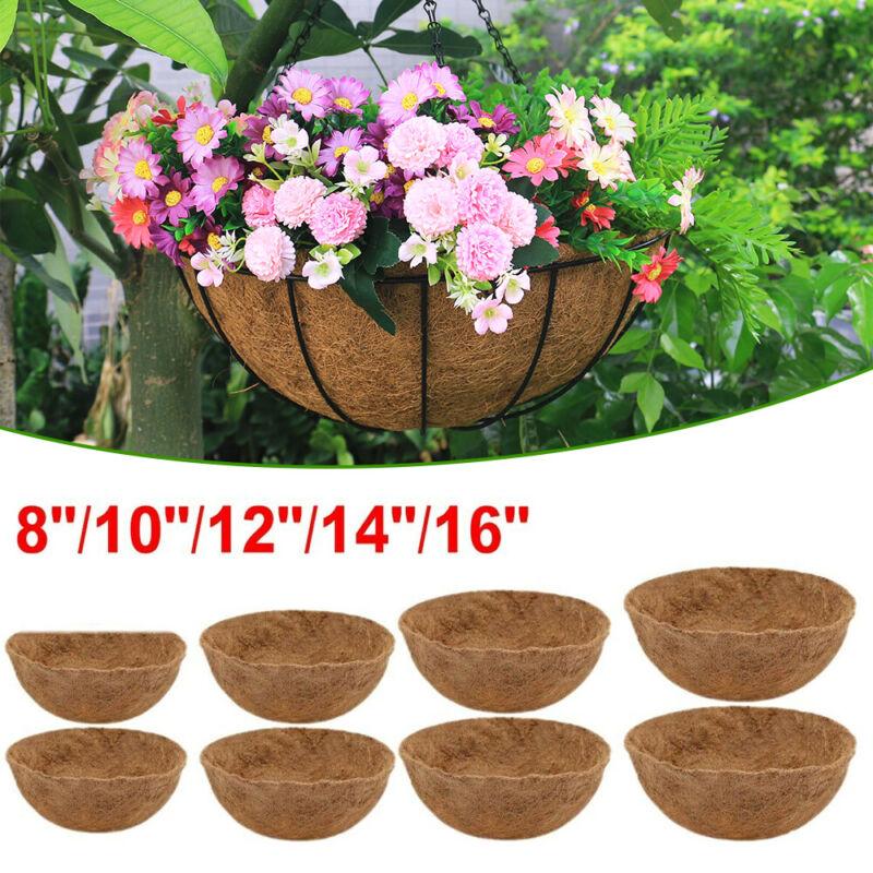 8/12/14/16 inch Round Coconut Fiber Coco Liner for Hanging Basket Planter Flower