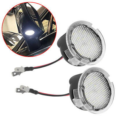 2PCS High Power White LED Side Mirror Puddle Lights For Ford F150 2012 2013 2014