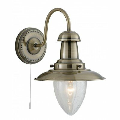 Searchlight Lighting 5331-1AB Fisherman Antique Brass Wall Light
