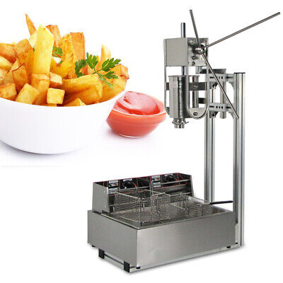 Commercial 3l Vertical Manual Spainish Churro Donut Making Machine 12l Fryer
