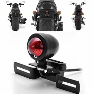 Motorcycle Tail Brake Light License Plate Holder #A For Harley Bobber Cafe Racer
