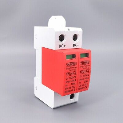 SPD DC 1000V 20KA~40KA House Surge Protective Low-voltage Arrester Device Low Voltage Mini Housing