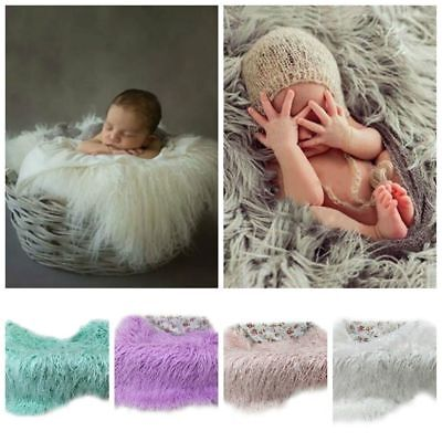DIY Baby Photo Props Newborn Photography Soft Fur Quilt Photographic Mat Hoooot - Diy Photography Props