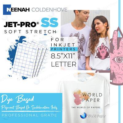 Inkjet Iron On Heat Transfer Paper Jet Pro Soft Stretch 8.5 X 11 - 15 Sheets