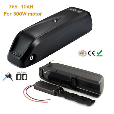 36V 10AH 350W 500W Downtube Lithium Li-ion E-Bike Battery Electric Bicycle BMS