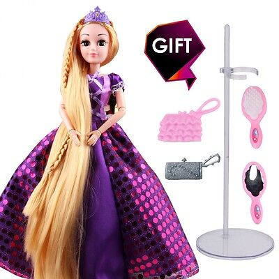 Princess Rapunzel Doll Toy Gift For Girls With Long Hairs Cartoon Character New (Rapunzel Hair For Kids)