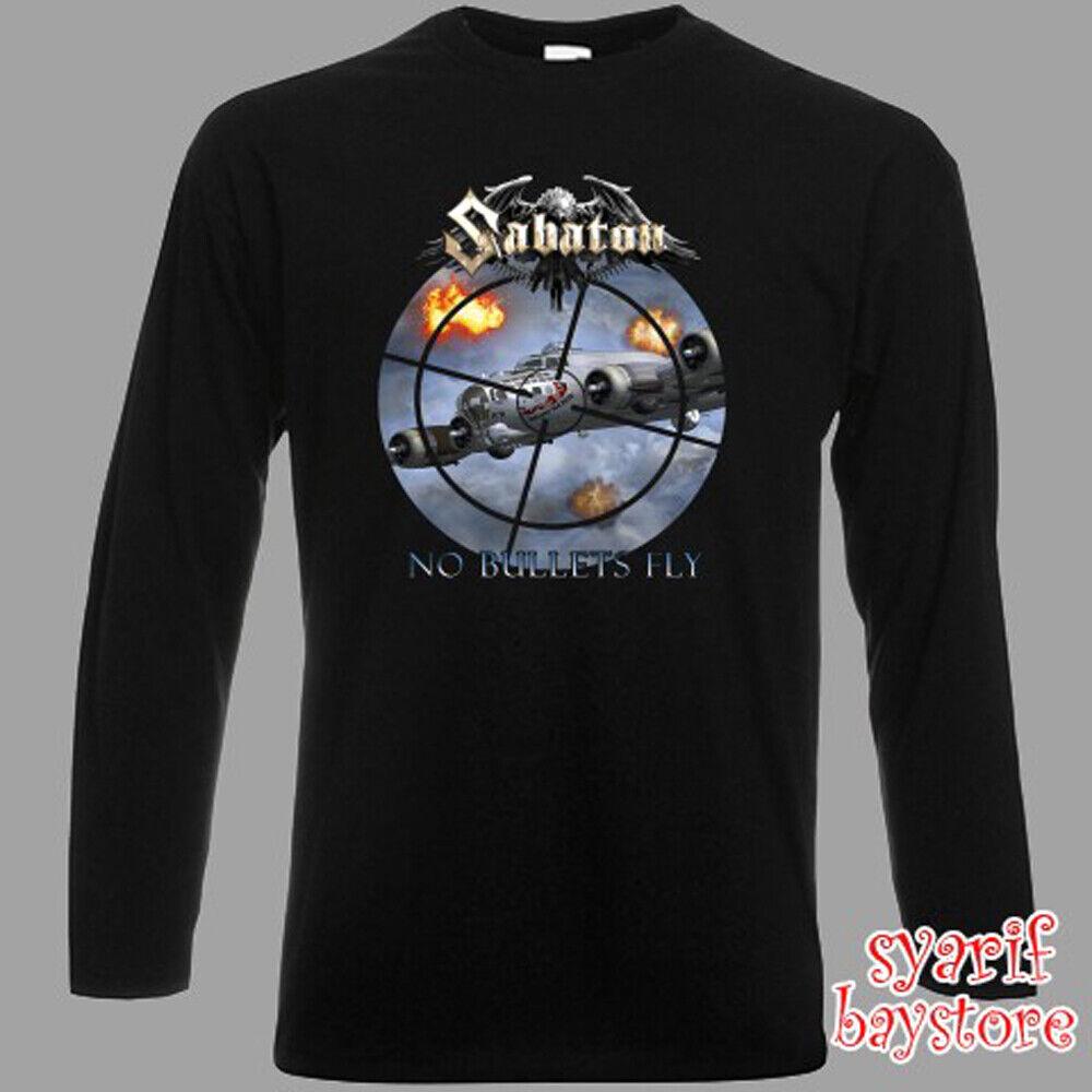 Sabaton Band No Bullets Fly Men's Long Sleeve Black T-Shirt
