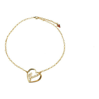 Guess Jewelry UBN21213 Ladies Gold Stainless Steel Heart Crystal Necklace Crystals Guess Ladies Jewelry
