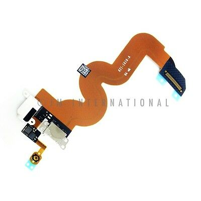 White iPod Touch 5th Gen USB Charging Port Dock Connector Audio Jack Flex Cable - Ipod Port Dock