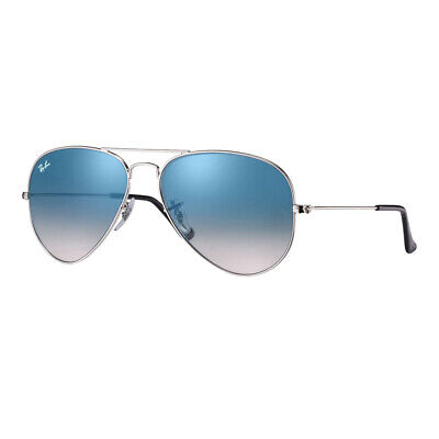 Ray-Ban Aviator Gradient Sunglasses: Silver/Light Blue Gradient - RB3025-0033F