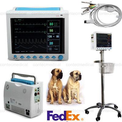 Contec Brand New Vital Signs Vet Icu Veterinary Patient Monitorrolling Standus