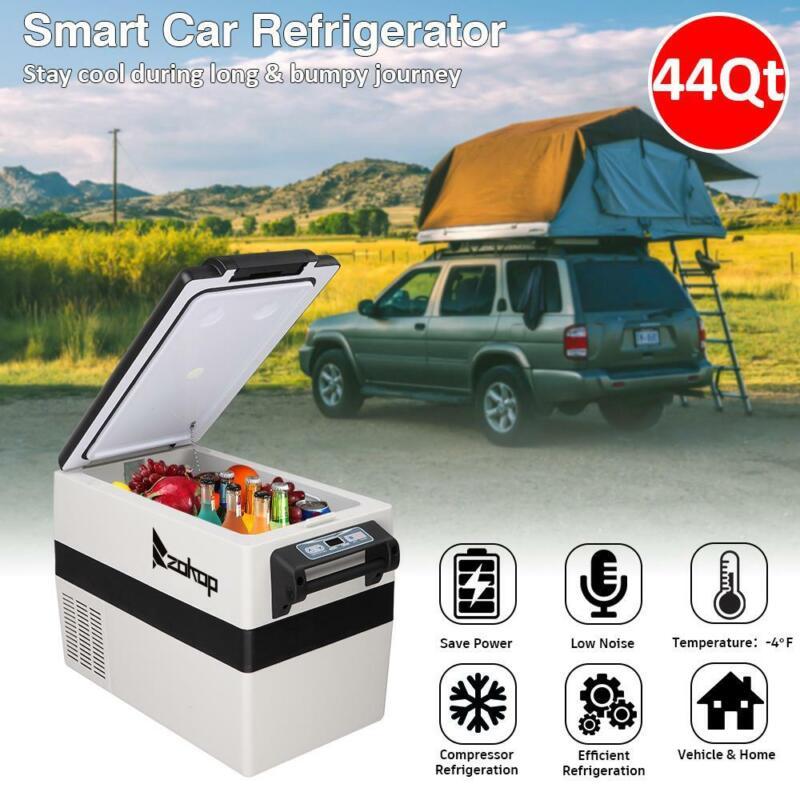 44Qt Portable Fridge Freezer 24/12V Car Refrigerator Cooler Electric Commercial