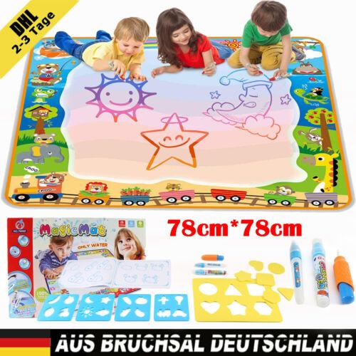 78cm*78cm Kinder Magic Doodle Malmatte Matte wie Aqua Doodle Malen mit Wasser DE