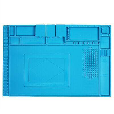 Magnetic Heat Insulation Silicone Pad Desk Work Mat Welding Soldering Iron Gun