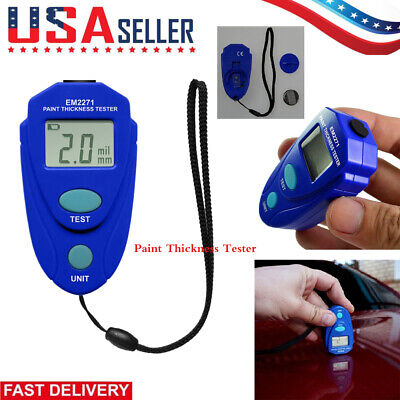 Lcd Digital Auto Car Paint Coating Thickness Tester Measuring Gauge Meter Em2271
