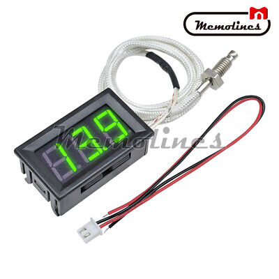 Digital Xh-b310 -30-800c Gauge Green Diaplay Thermometer K-type M6 Thermocouple