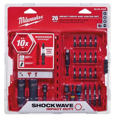 Milwaukee 26Pc Shockwave Impact Drive & Fasten + Bit Holder 48-32-4408 New