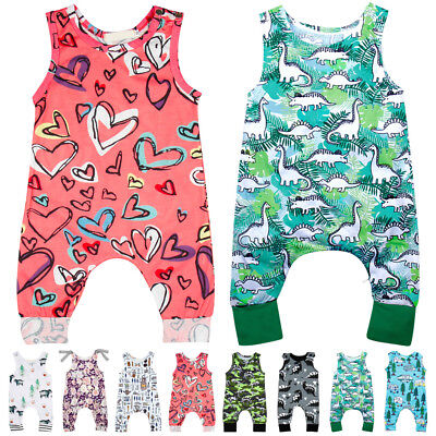 0-24M Newborn Infant Baby Boys Girls Bodysuit Romper Jumpsuit Outfits Clothes