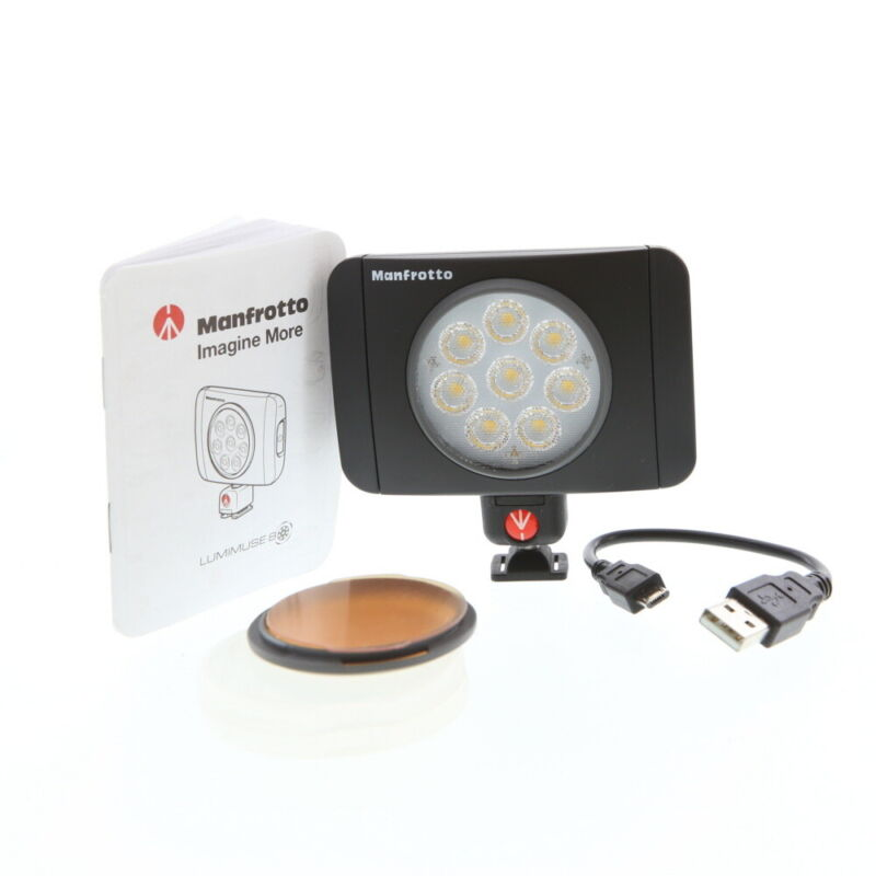 Manfrotto Lumimuse 8 On-Camera Led Light 5600k - MLUMIMUSE8A-BK - LM