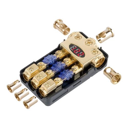 DIGITAL GOLD POWER MINI ANL FUSE DISTRIBUTION BLOCK 0 AWG GAUGE PROFESSIONAL USA