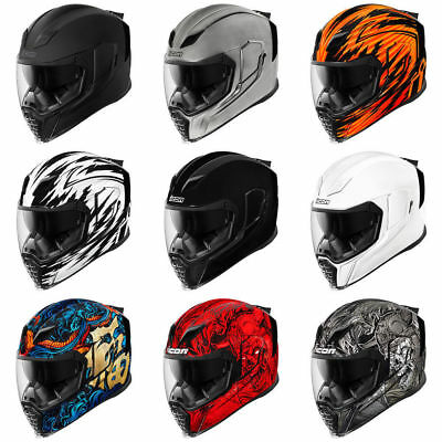 FAST FREE SHIPPING  NEW ICON AIRFLITE Motorcycle Helmet Full Face ALL COLORS