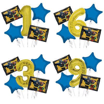 Lego Batman 1-9 Birthday Balloon Bouquet 5 pcs Boys Birthday Party