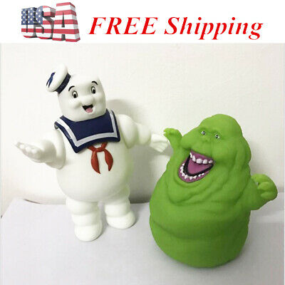 Ghostbusters Marshmallow Man Slimer Green Ghost Action Figure Cake Topper Toys](Ghostbusters Marshmallow Man)