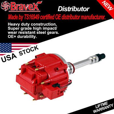 HEI Distributor Chevy 283 305 307 327 350 400 SBC BBC 65k V8 Big/Small Block Red