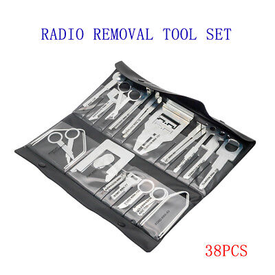 38Pcs Car Stereo Release Removal Keys Tool Kit Vehicle CD Radio For Audi VW Ford