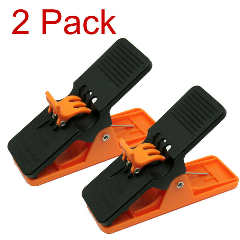 2 Pack Orange Cigar Minder Clip Holder Saver Klip Golf Boat Auto