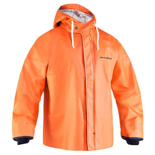 Grundens Brigg 44 All Weather Hooded Jacket Parka - ORANGE - Select Size