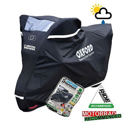 Oxford Stormex Waterproof Motorcycle Cover Black All Weather CV332 Large