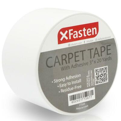 Xfasten Carpet Tape 3 Inches X 20 Yards Pack Of 2