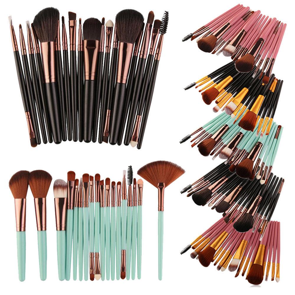 18 pezzi / Set Ombretto cosmetico pennelli Makeup Labbra sopracciglio spazzola