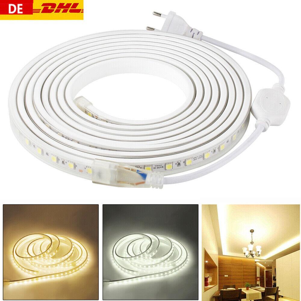 Strip Led Piu Luminosi dettagli su 230v striscia led smd 5050 barra luminosa luce tubo 220v